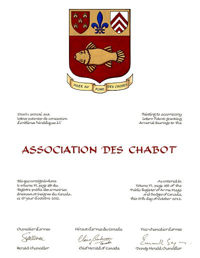 Armoiries | Association des Chabot