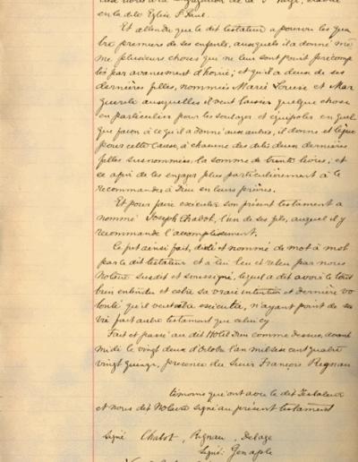 Testament de Mathurin Chabot (22 octobre 1695)