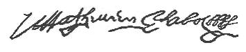 Fac-similé de la signature de Mathurin Chabot