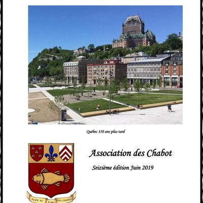 Family Directory of the Chabots, 16th edition (2019)