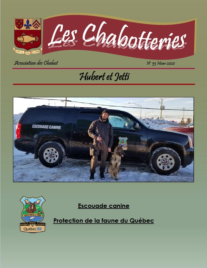 Couverture de la revue Les Chabotteries - Numéro 53