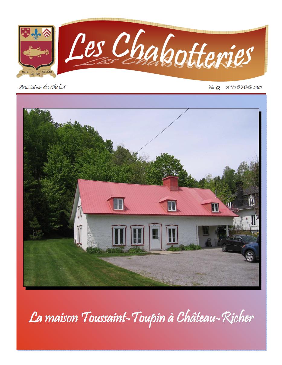 Les Chabotteries - Numéro 12 - Français