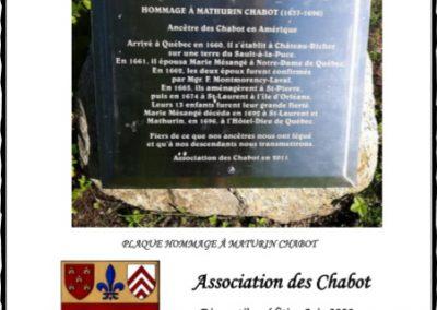 Répertoire généalogique des Chabot, 17e édition, 2020