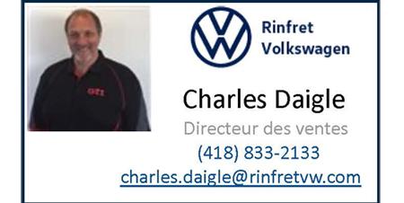 Charles Daigne, directeur des ventes Rinfret Volkswagen